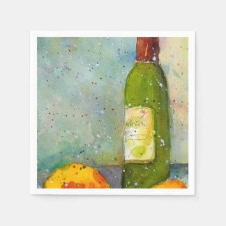 Guardanapo do cocktail do vinho e dos limões