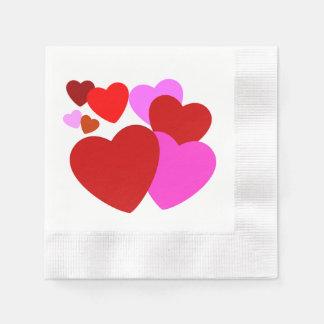 Guardanapo do coração do dia dos namorados