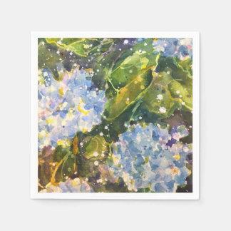 Guardanapo do impressão da aguarela do Hydrangea