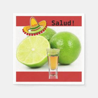 Guardanapo do limão e do cocktail do Tequila