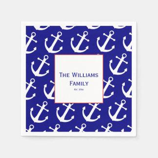 Guardanapo do Livro azul & Branco da âncora