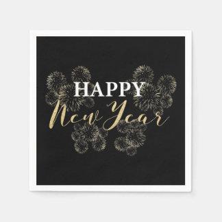 Guardanapo do ouro do feliz ano novo