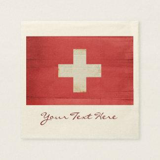 Guardanapo do partido da bandeira da suiça