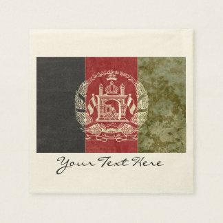 Guardanapo do partido da bandeira de Afeganistão