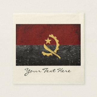 Guardanapo do partido da bandeira de Angola
