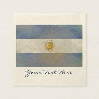 Guardanapo do partido da bandeira de Argentina