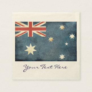 Guardanapo do partido da bandeira de Austrália