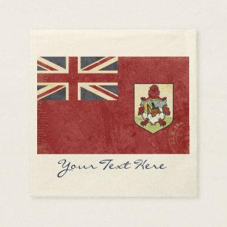 Guardanapo do partido da bandeira de Bermuda