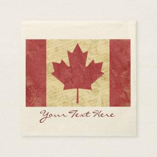Guardanapo do partido da bandeira de Canadá