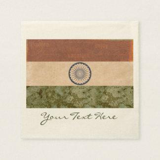 Guardanapo do partido da bandeira de India