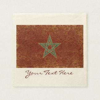 Guardanapo do partido da bandeira de Marrocos