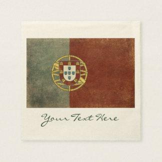Guardanapo do partido da bandeira de Portugal