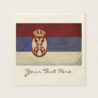Guardanapo do partido da bandeira de Serbia