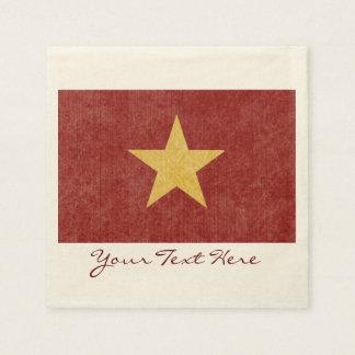 Guardanapo do partido da bandeira de Vietnam