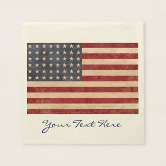 Guardanapo do partido da bandeira dos EUA