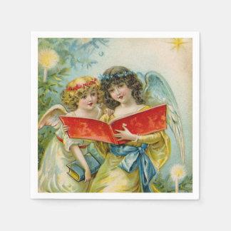 Guardanapo do partido do anjo do feriado do natal