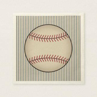 Guardanapo do partido do basebol do vintage do