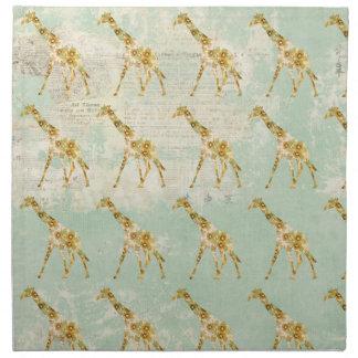 Guardanapo do teste padrão do girafa