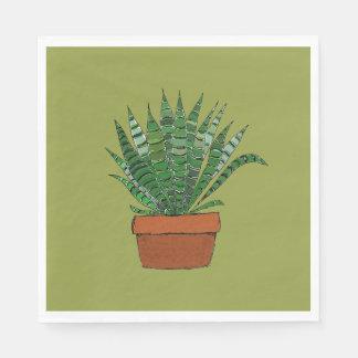 Guardanapo do verde da arte do Succulent de
