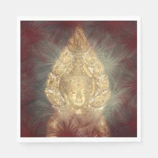 guardanapo dourados de buddha