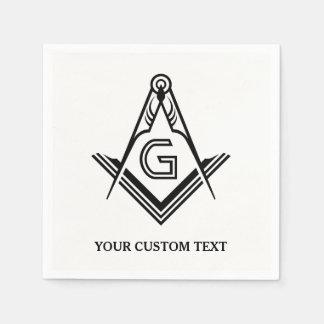 Guardanapo e decorações maçónicos personalizados