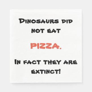 Guardanapo engraçados da pizza
