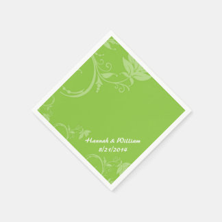 Guardanapo feito sob encomenda floral verde