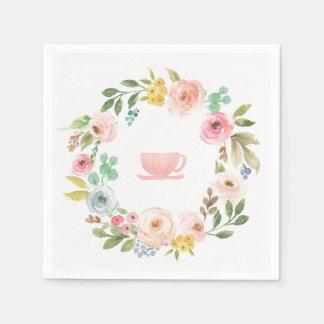 Guardanapo florais do tea party do chá de panela