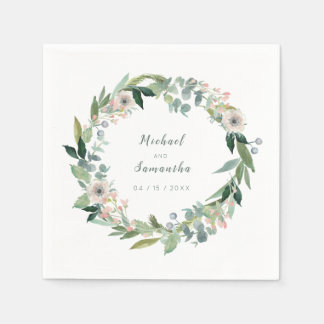 Guardanapo florais elegantes do casamento da