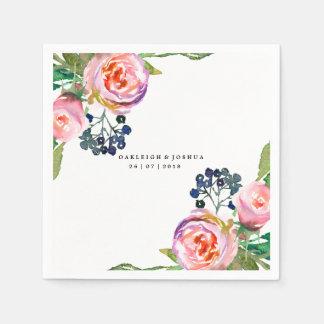 Guardanapo floral boémio do casamento