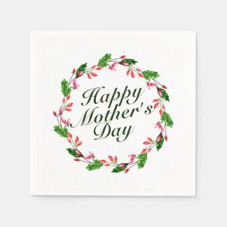 Guardanapo floral da grinalda | do dia das mães