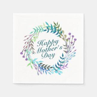 Guardanapo floral da grinalda do dia das mães