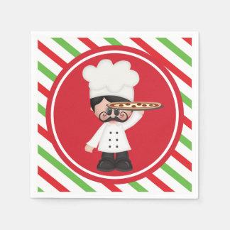 Guardanapo italianos do serviço da pizza do