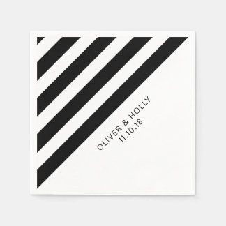 Guardanapo listrados preto e branco