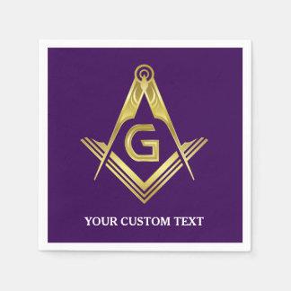 Guardanapo maçónicos personalizados | roxo & ouro