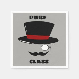 Guardanapo padrão do cocktail da classe pura