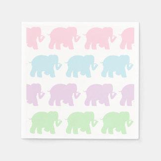 Guardanapo Pastel do cocktail dos elefantes