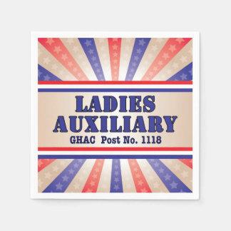 Guardanapo patrióticos do auxiliar das senhoras
