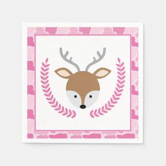 Guardanapo pequenos cor-de-rosa do chá de fraldas