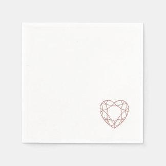 Guardanapo (pequenos) cor-de-rosa elegantes do