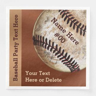 Guardanapo personalizados do basebol do vintage,