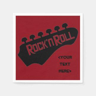 Guardanapo personalizados guitarra do rock and