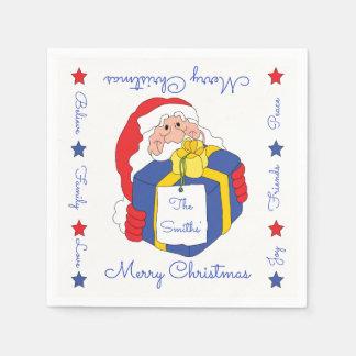 """Guardanapo personalizados """"Sanata Claus """" do Natal"""