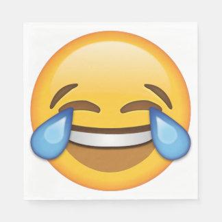 Guardanapo quadrados de riso de Emoji (50