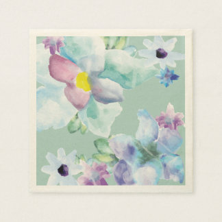 Guardanapo roxos & azuis do chá das flores da