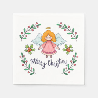 Guardanapo simples contudo bonito do anjo   do