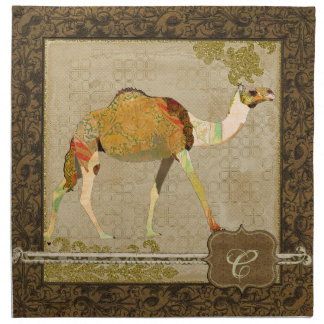 Guardanapo sonhador do monograma do camelo