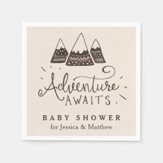 Guardanapo temáticos do chá de fraldas da aventura