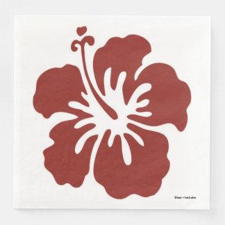 Guardanapo temáticos tropicais da flor do hibiscus