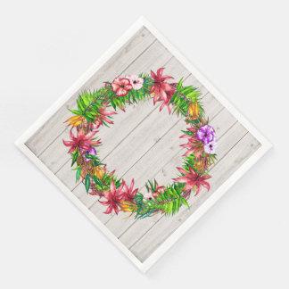 Guardanapo tropicais florais bonito dos bens do